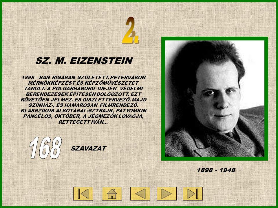 SZ. M. EIZENSTEIN 1898 – BAN RIGÁBAN SZÜLETETT.
