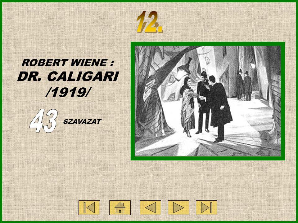 ROBERT WIENE : DR. CALIGARI /1919/ SZAVAZAT