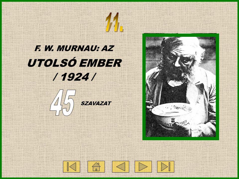F. W. MURNAU: AZ UTOLSÓ EMBER / 1924 / SZAVAZAT