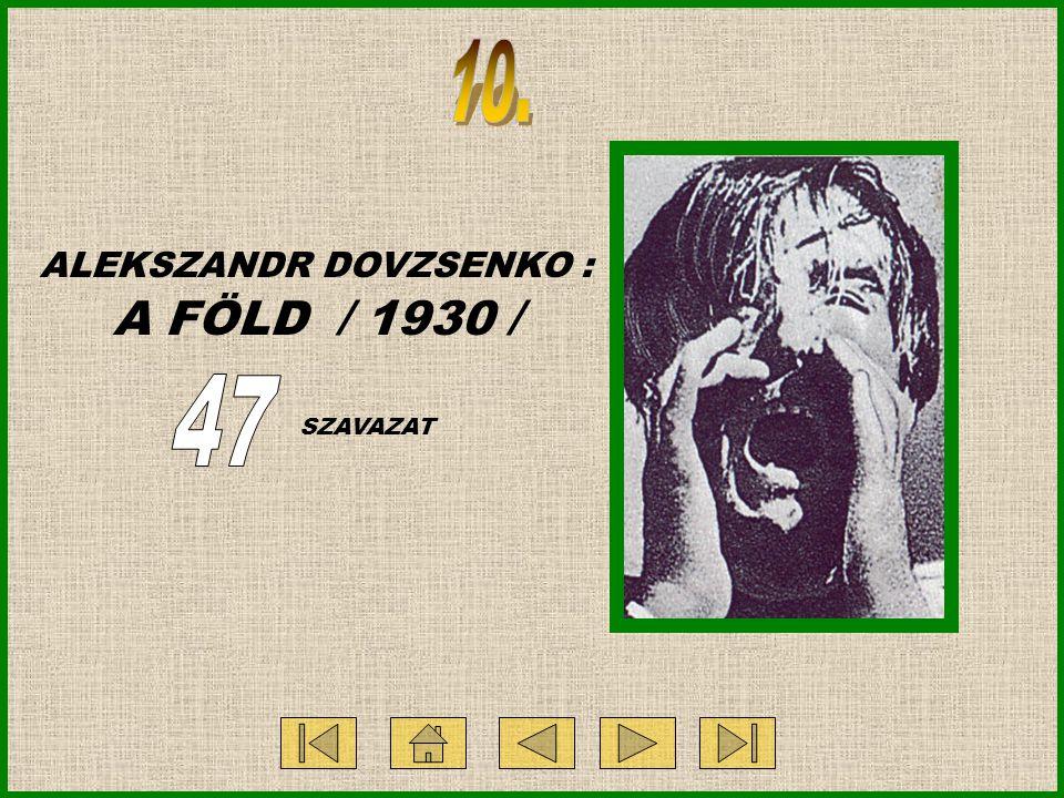 ALEKSZANDR DOVZSENKO : A FÖLD / 1930 / SZAVAZAT