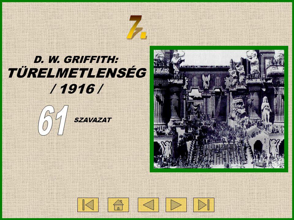 D. W. GRIFFITH: TÜRELMETLENSÉG / 1916 / SZAVAZAT