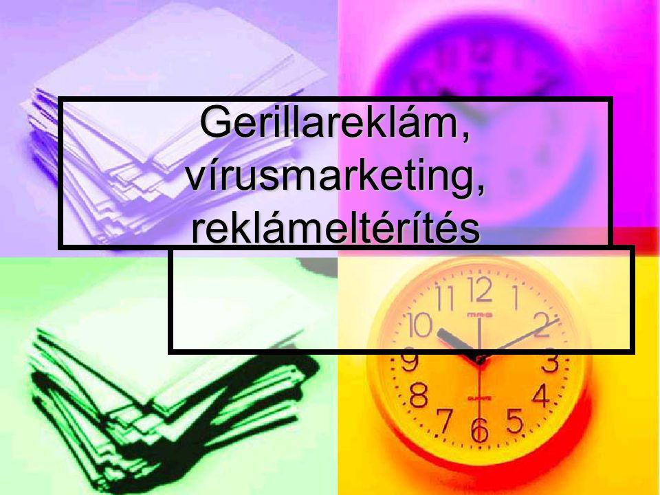 Gerillareklám, vírusmarketing, reklámeltérítés