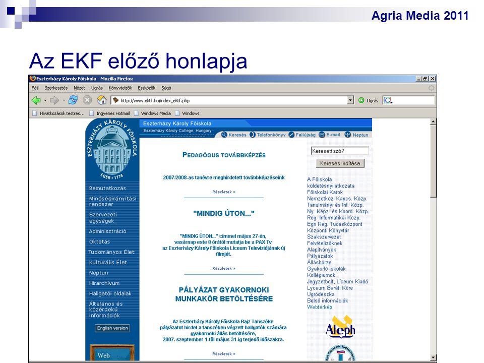 Agria Media 2011 Az EKF előző honlapja