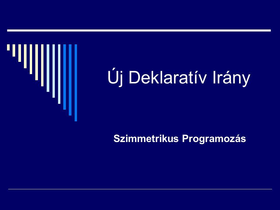 Új Deklaratív Irány Szimmetrikus Programozás