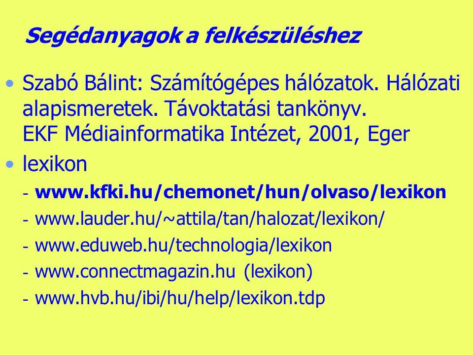 Készítette: B.László Oktatásinformatikus felsőfokú szakképzés Írásbeli - I.