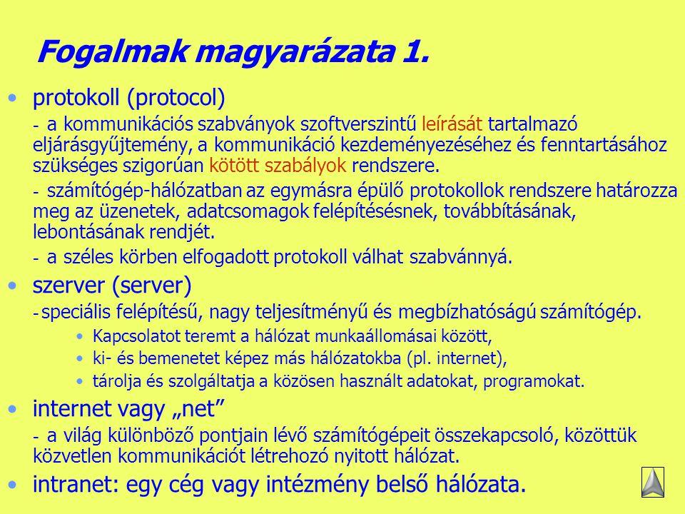 Készítette: B.László Mi a számítógép-hálózat.