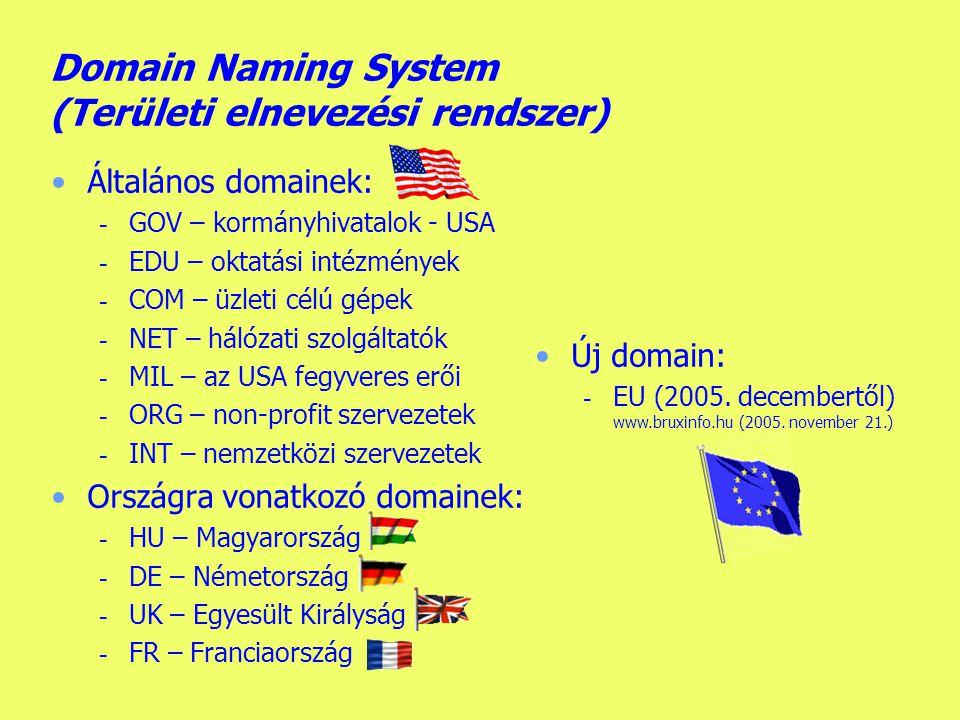 Készítette: B.László Az internet kialakulása II.
