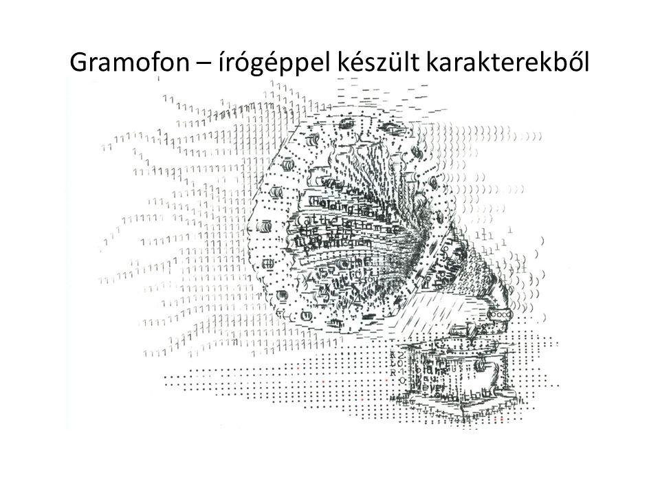 Gramofon – írógéppel készült karakterekből