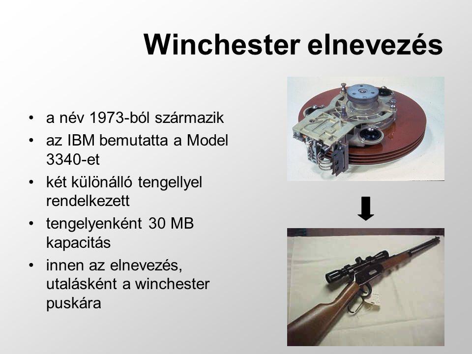 az adatokat mágnesezhető réteggel bevont lemezeken tárolja a forgó lemez fölött mozgó író/olvasó fej ír vagy olvas a lemezek állandóan forognak, sebességüket rpm-ben (rotation per minute) adják meg egy hdd-ben több lemez található, ezekhez két fej (alul- felül) tartozik a lemezeket azonos központú, különböző sugarú körök tagolják, ezek a sávok (track) az egymás alatt lévő sávokat cilindereknek nevezzük a sávokat továbbonthatjuk szektorokra a HDD 3 – 4 szektort kezel együtt, ezek a clusterek