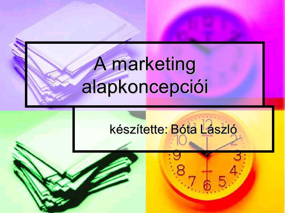 A marketing alapkoncepciói készítette: Bóta László