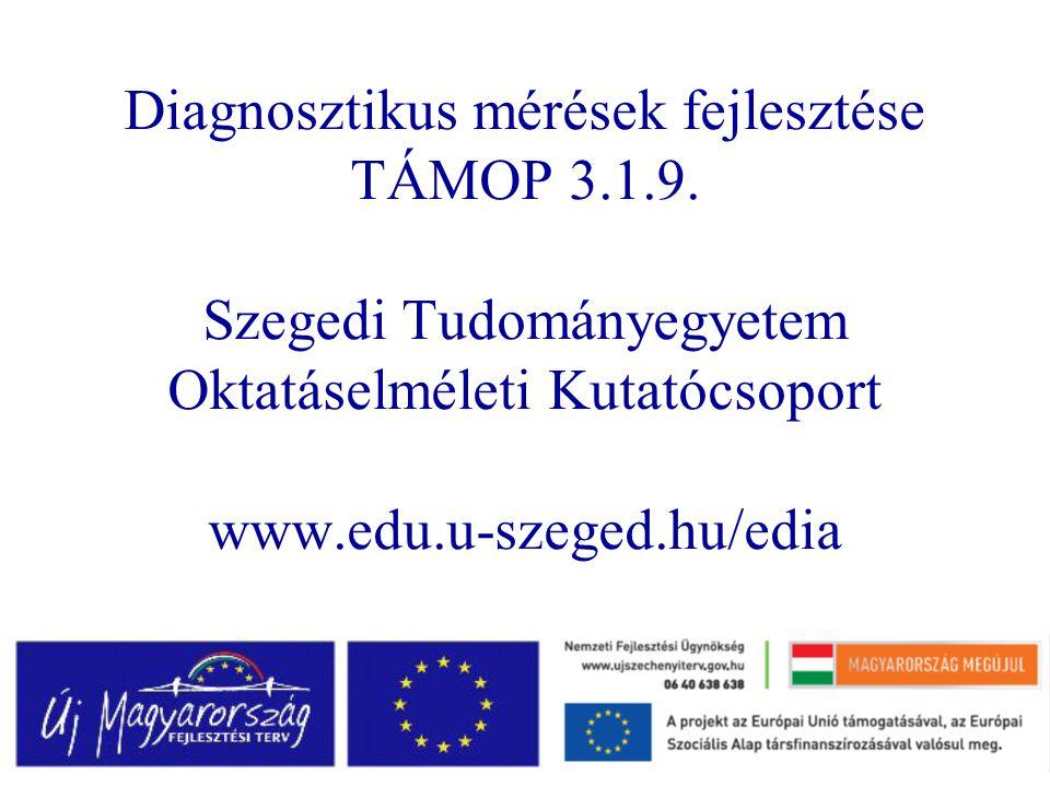 Diagnosztikus mérések fejlesztése TÁMOP 3.1.9.