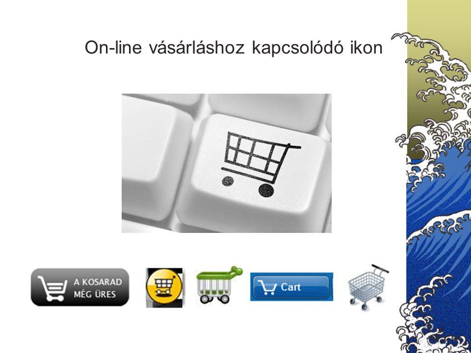 On-line vásárláshoz kapcsolódó ikon