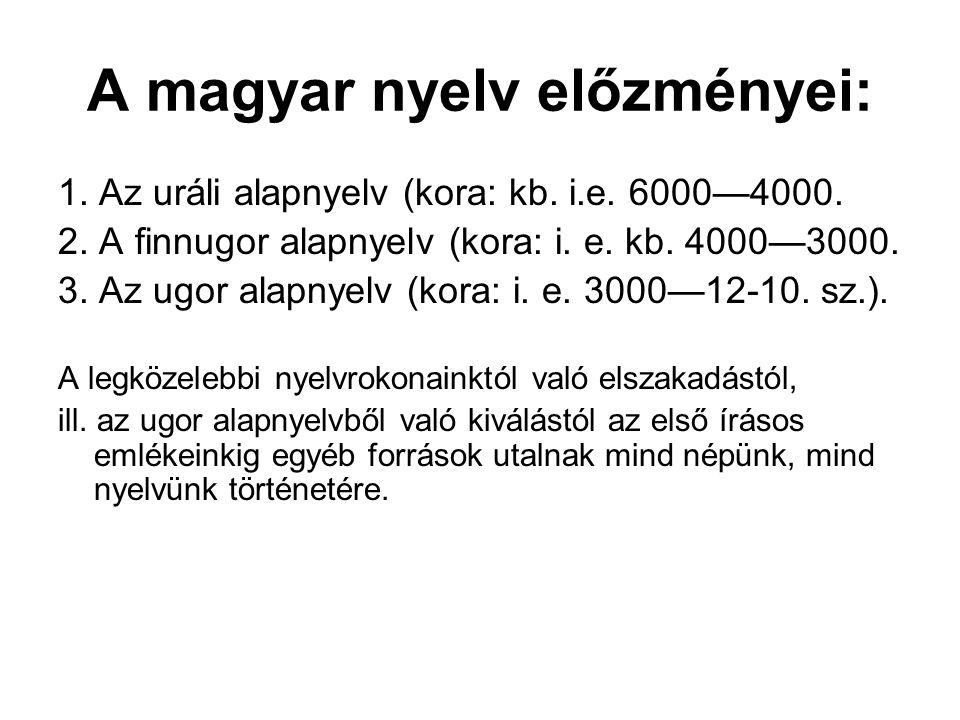 Így a magyar nyelv történetének korszakhatárai a magyarság történelmének sorsfordulóival, ill. meghatározó jelentőségű eseményeivel esnek egybe.