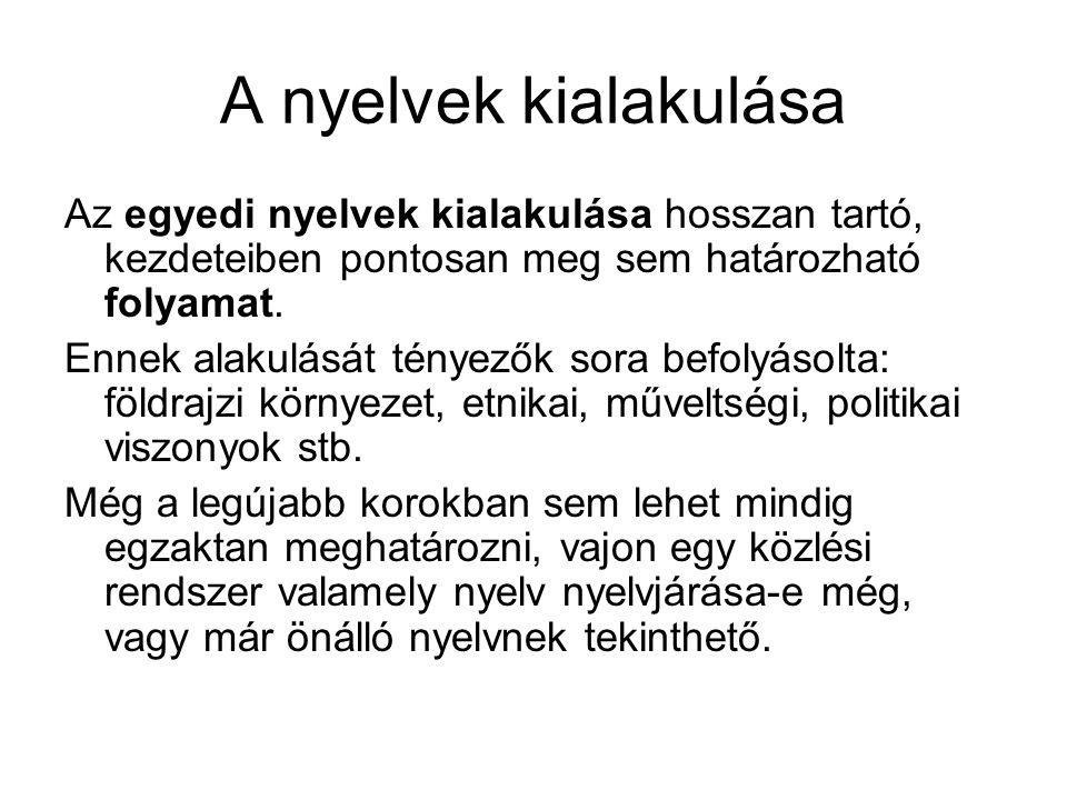 A magyar nyelvtörténet korszakai