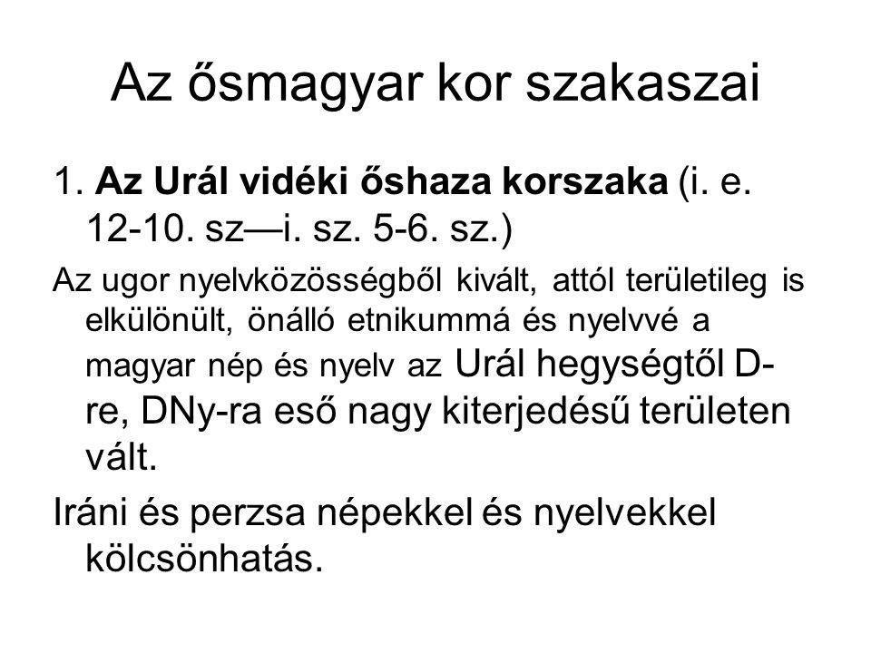 Az alapnyelvekhez képest jóval gazdagabb fonémaállománnyal rendelkezett a magyar nyelv a korszak végére (zöngés msh.-k, hosszú mgh.-k), hasonlóan nagy