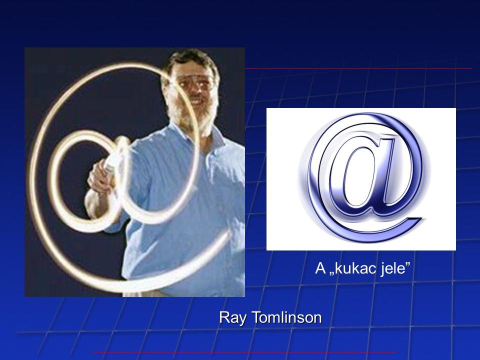 "Ray Tomlinson A ""kukac jele"""