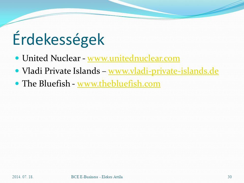 Érdekességek United Nuclear - www.unitednuclear.comwww.unitednuclear.com Vladi Private Islands – www.vladi-private-islands.dewww.vladi-private-islands