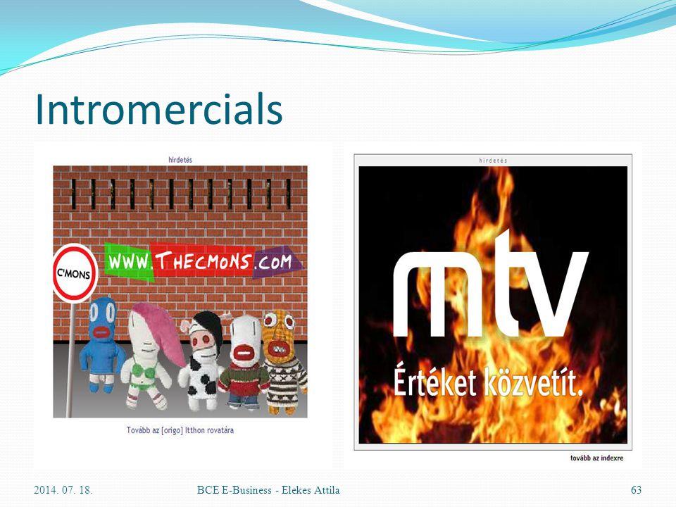 Intromercials 2014. 07. 18.BCE E-Business - Elekes Attila63