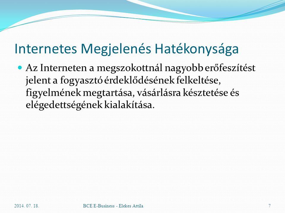Internetes Megjelenés Hatékonysága Az Interneten a megszokottnál nagyobb erőfeszítést jelent a fogyasztó érdeklődésének felkeltése, figyelmének megtar