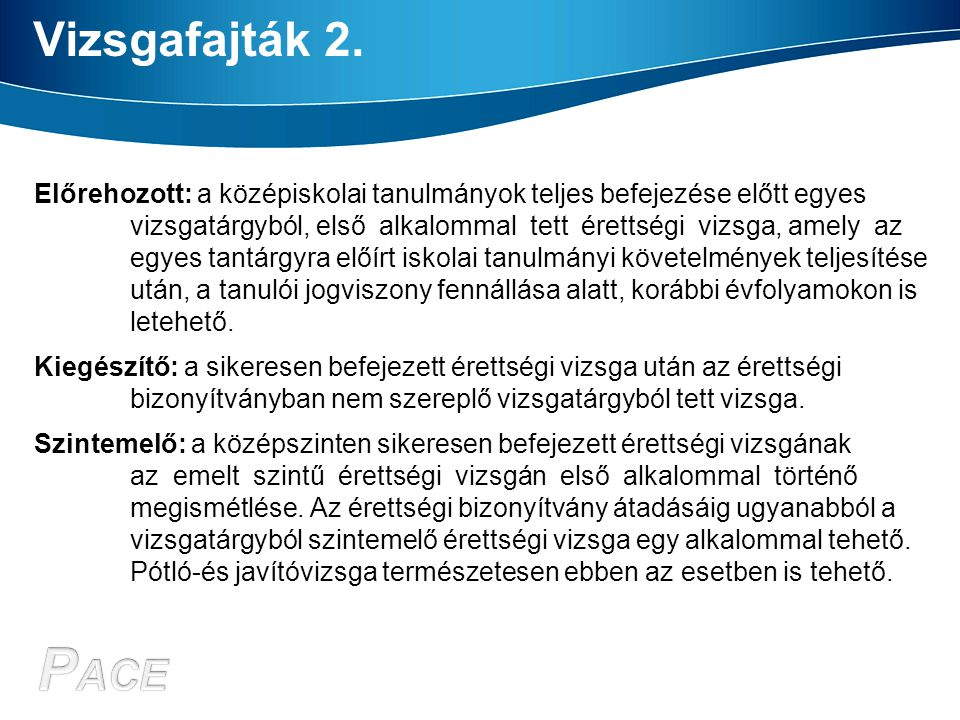 Vizsgatárgyak 237/2006.(XI. 27.) Korm.