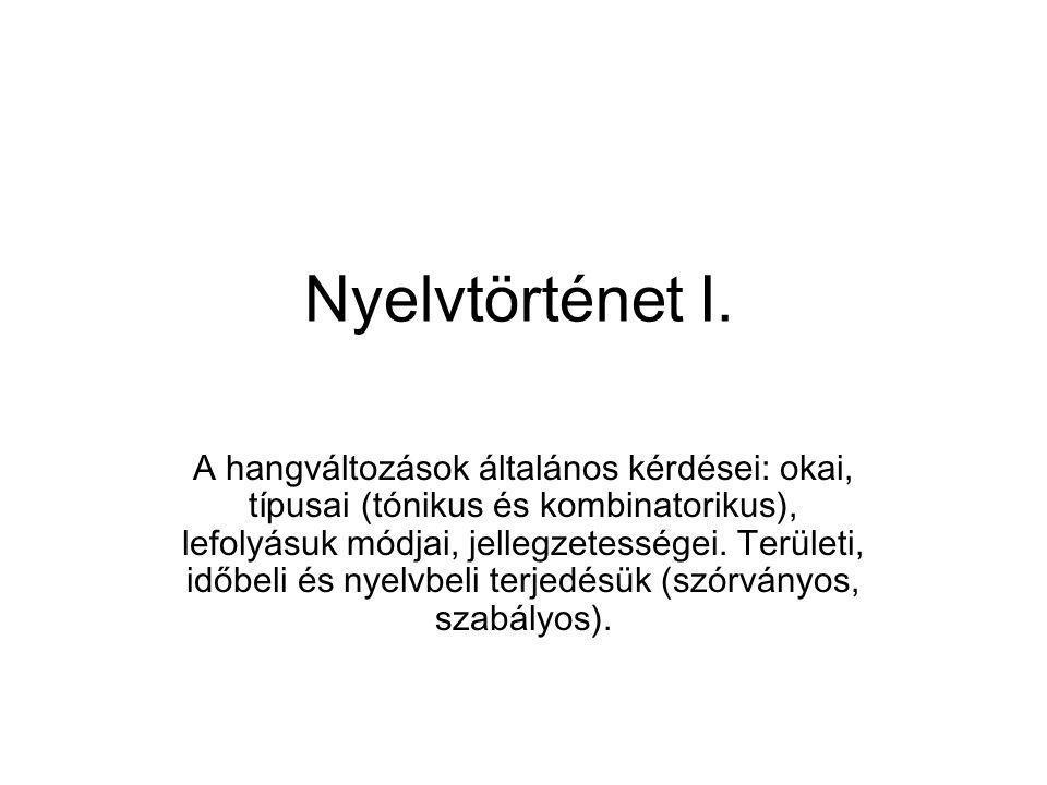 Az ugor alapnyelvből örökölt fonémaállomány és -rendszer a magyar nyelv életében nem maradt változatlan.