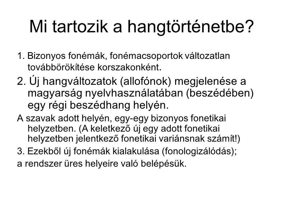 (1) Inetimologikus vokális létrejötte: pl.lat. skola > m.