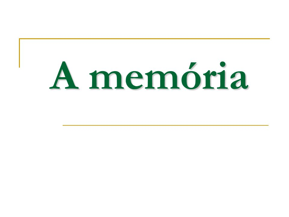 Miről lesz szó.Miért van szükség memóriára.