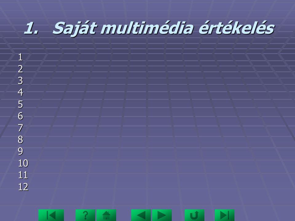 1.Saját multimédia értékelés 123456789101112