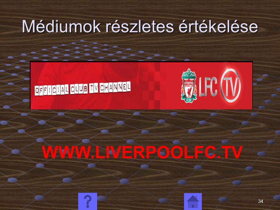 34 Médiumok részletes értékelése WWW.LIVERPOOLFC.TV