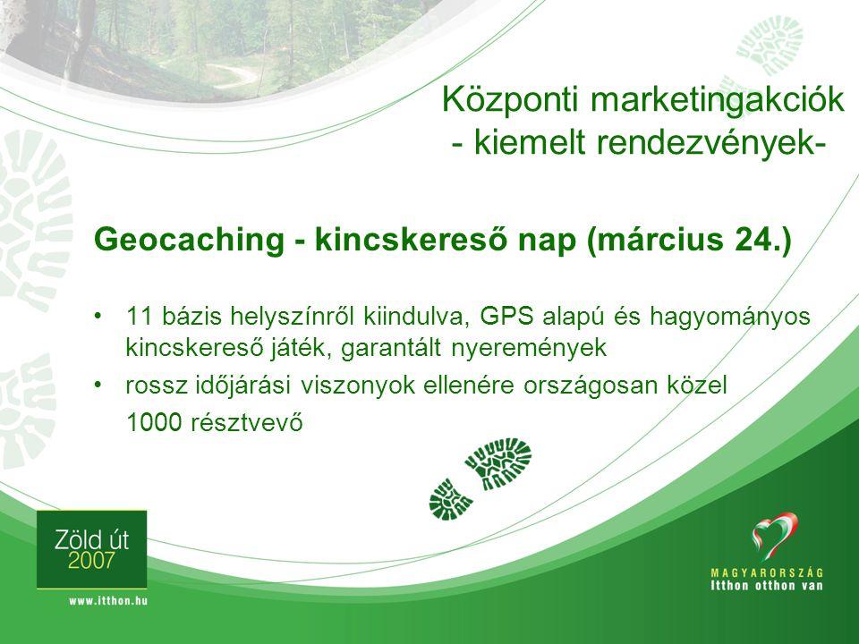 Geocaching - kincskereső nap (március 24.) 11 bázis helyszínről kiindulva, GPS alapú és hagyományos kincskereső játék, garantált nyeremények rossz idő