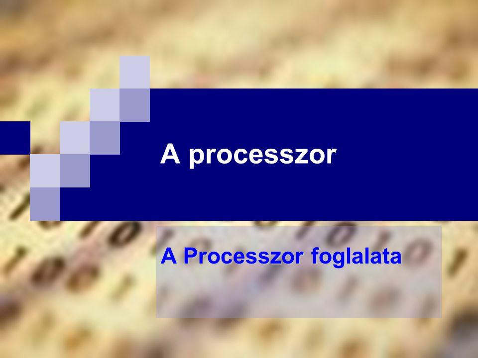 A processzor A Processzor foglalata