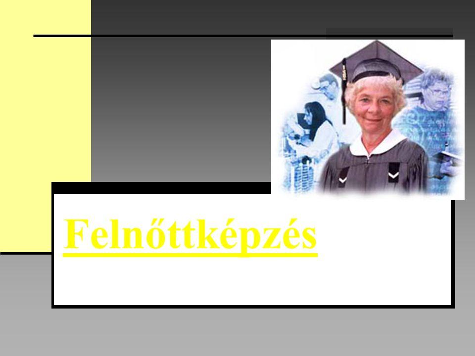 Irodalom: dr.Zrinszky László - A felnőttképzés tudománya, OKKER, 1996.