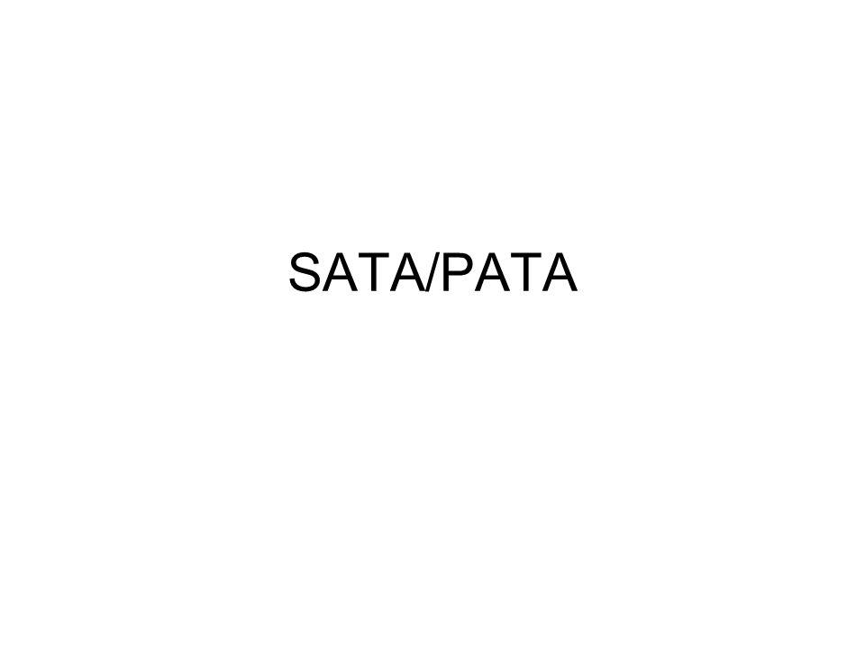 """vékonyabb adatkábel nagyobb átviteli sebesség """"hot swap , azaz a kikapcsolás nélküli csatlakoztatás és leválasztás jobb adatkapcsolat inkompatibilis a PATA-val Kizárólag optikai meghajtók és merevlemezek csatlakoztatásához alkalmazzák kisebb adatátviteli sebesség inkompatibilis a SATA-val"""
