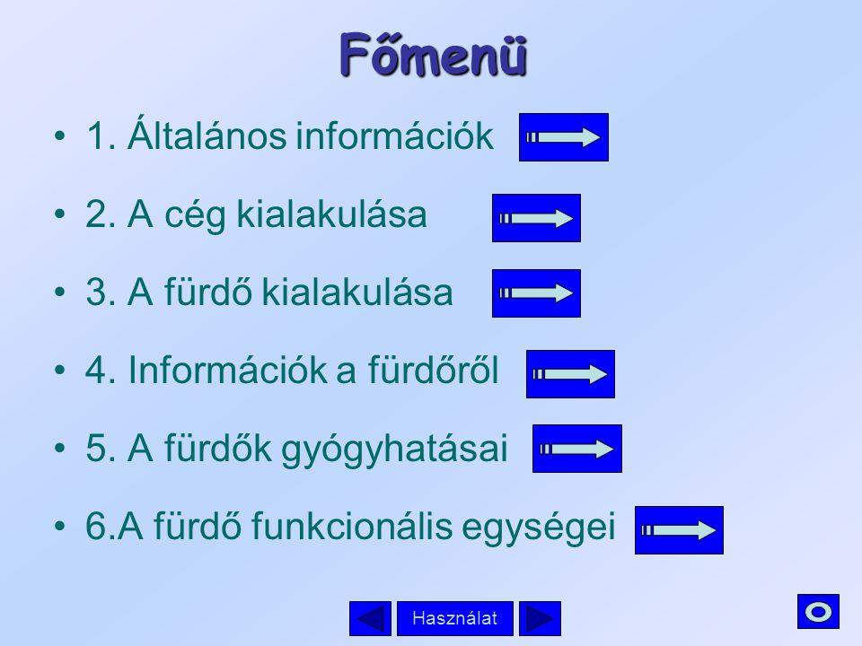 Használat A prezentáció Főmenüjébe lépve több almenüből választhatunk, ezek neveire kattintva, megtekinthetjük a kiválasztott részt.