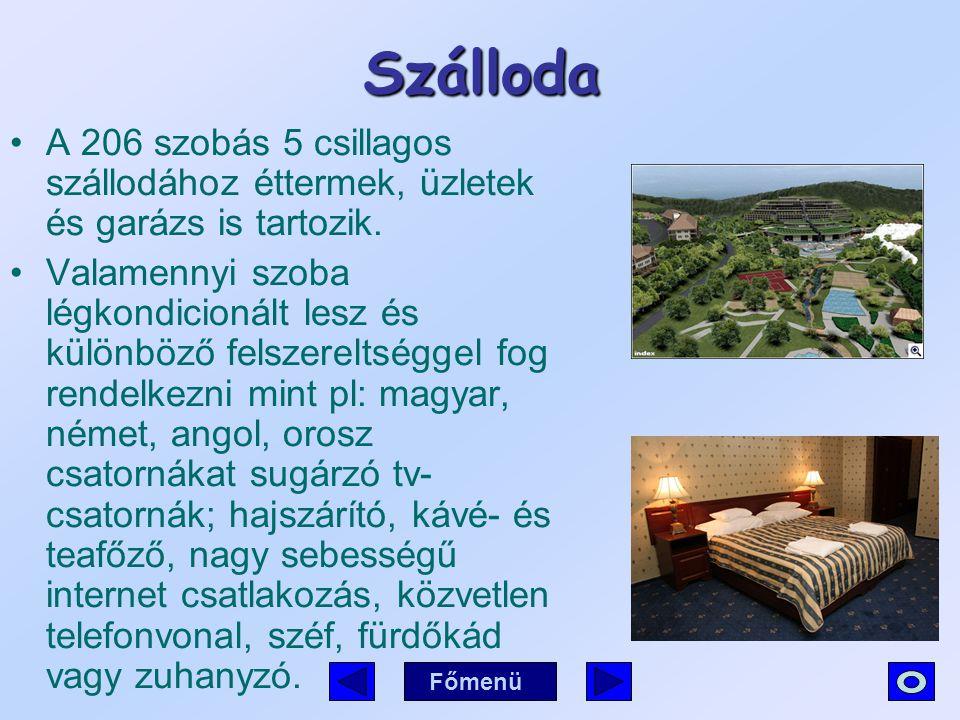 Szálloda A 206 szobás 5 csillagos szállodához éttermek, üzletek és garázs is tartozik. Valamennyi szoba légkondicionált lesz és különböző felszereltsé