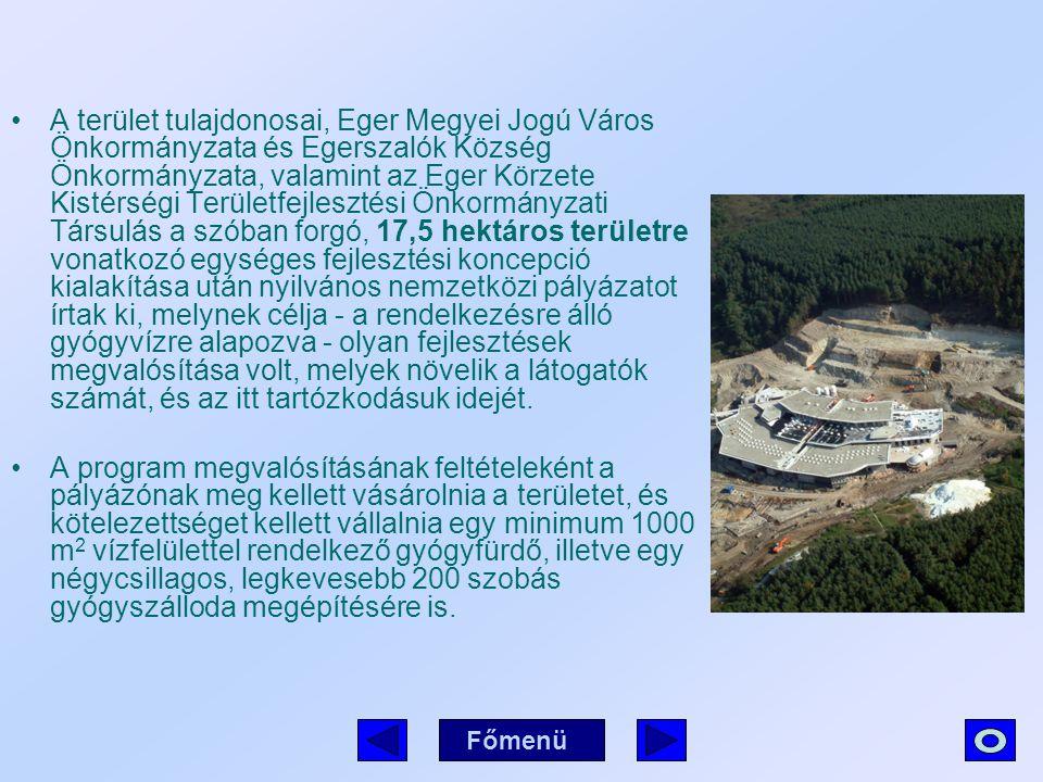 A terület tulajdonosai, Eger Megyei Jogú Város Önkormányzata és Egerszalók Község Önkormányzata, valamint az Eger Körzete Kistérségi Területfejlesztés