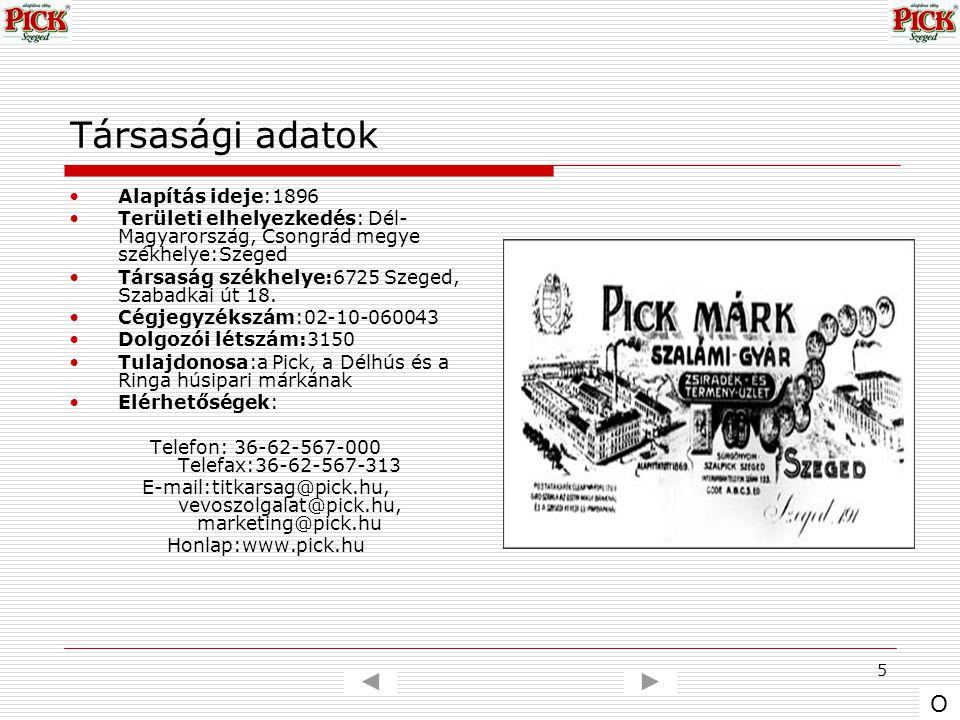 5 Társasági adatok Alapítás ideje:1896 Területi elhelyezkedés: Dél- Magyarország, Csongrád megye székhelye:Szeged Társaság székhelye:6725 Szeged, Szab