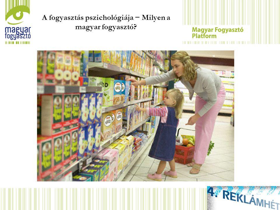 A fogyasztás pszichológiája − Milyen a magyar fogyasztó.