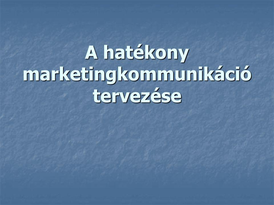 A hatékony marketingkommunikáció 8 lépése 1.Célközönség 2.