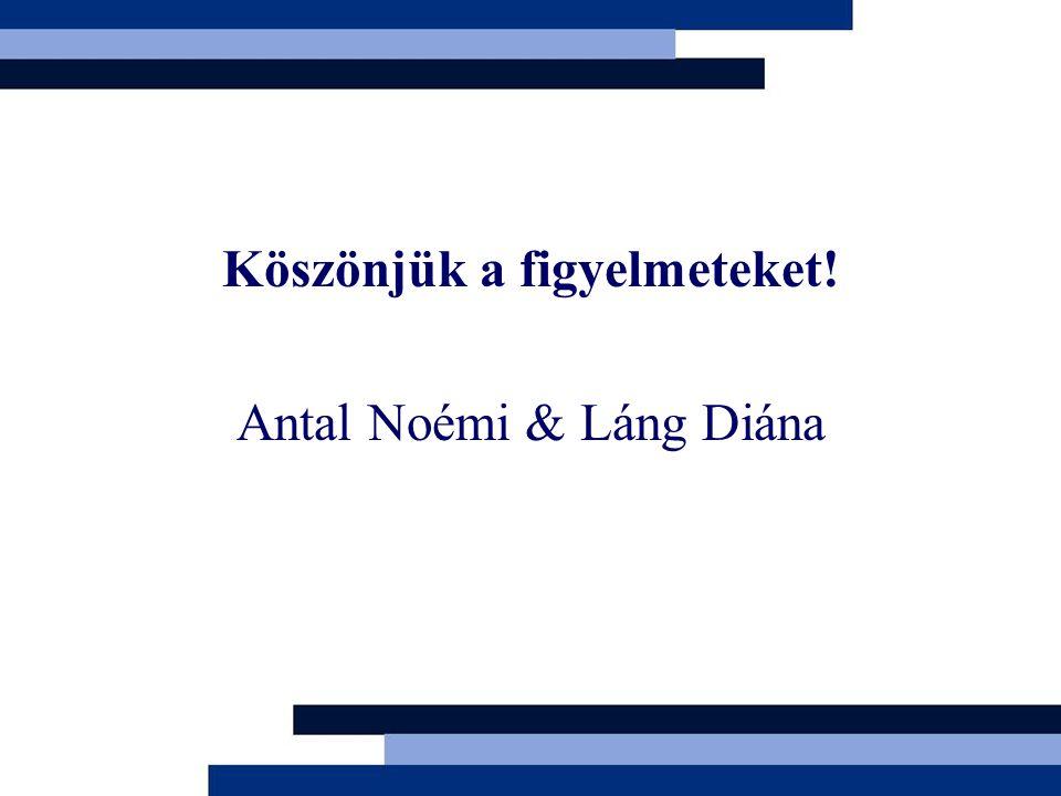 Köszönjük a figyelmeteket! Antal Noémi & Láng Diána