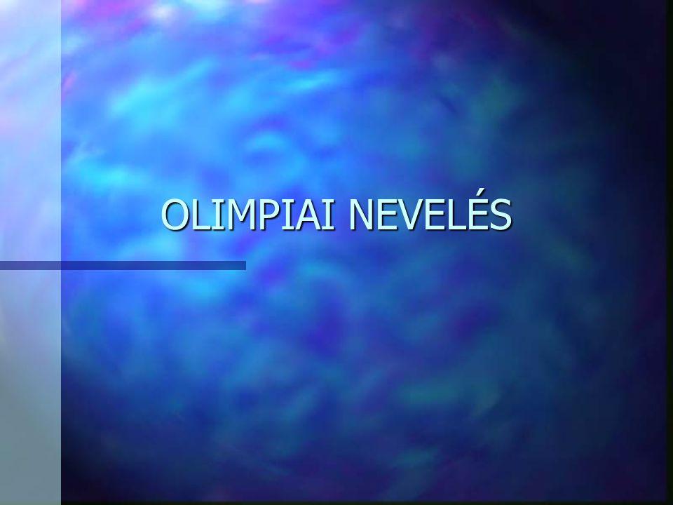 OLIMPIAI NEVELÉS