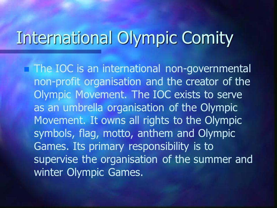 A Nemzetközi Olimpiai Bizottság felkarolta a Nemzetközi Olimpiai Akadémia gondolatát, melynek célja az olimpizmust , az olimpiai gondolatok széleskörű terjesztése, és az olimpizmus nemzetközi propagálásának elősegítése volt.
