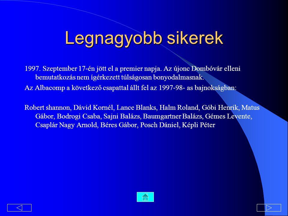 Legnagyobb sikerek 1997.Szeptember 17-én jött el a premier napja.
