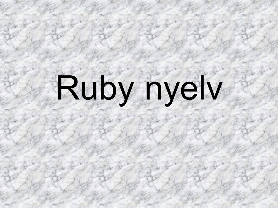 Ruby nyelv