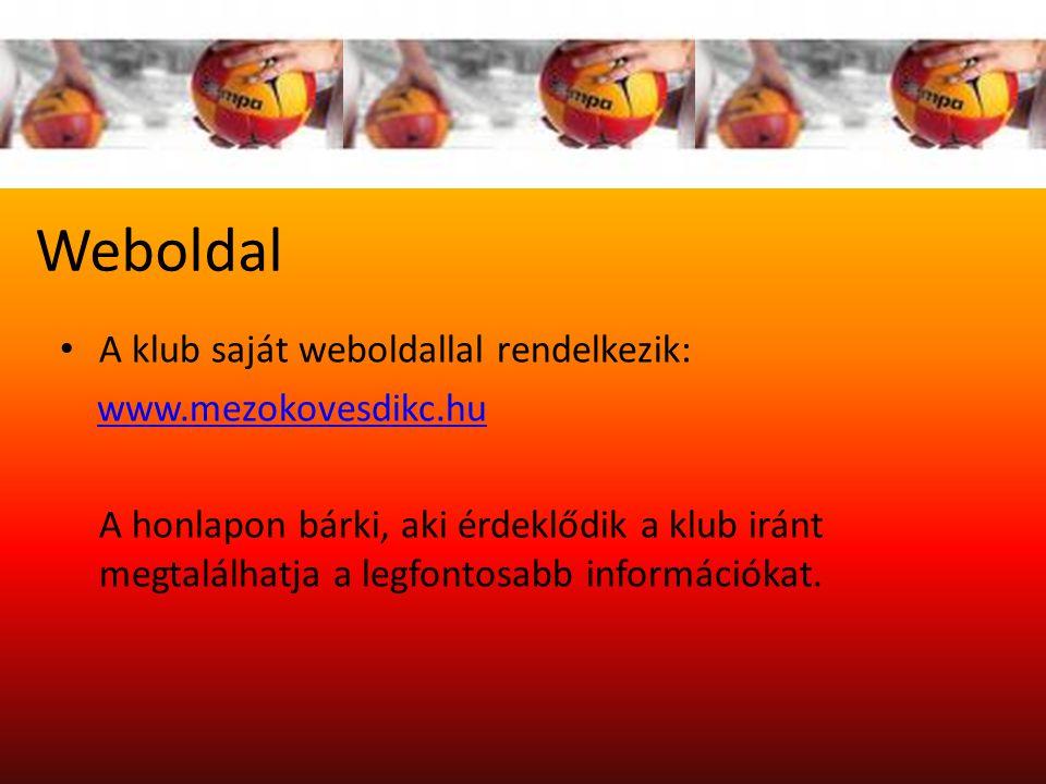 Weboldal A klub saját weboldallal rendelkezik: www.mezokovesdikc.hu A honlapon bárki, aki érdeklődik a klub iránt megtalálhatja a legfontosabb információkat.