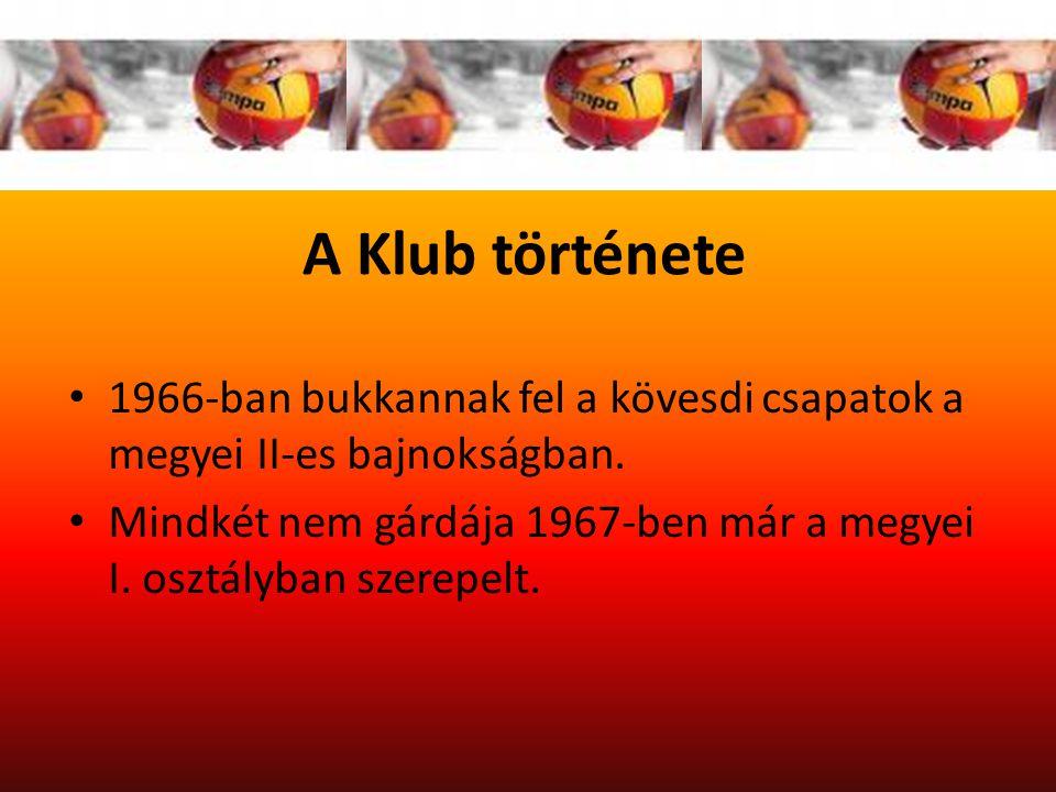 A Klub története 1966-ban bukkannak fel a kövesdi csapatok a megyei II-es bajnokságban.