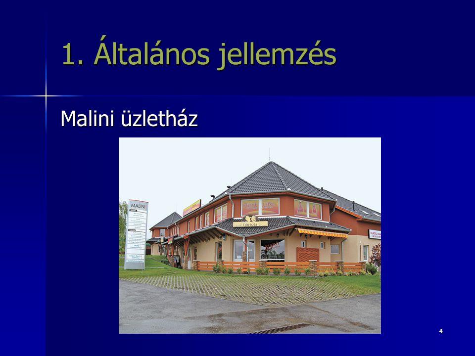 4 1. Általános jellemzés Malini üzletház