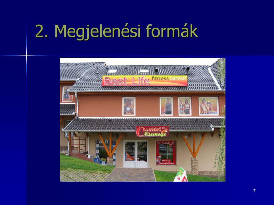 7 2. Megjelenési formák