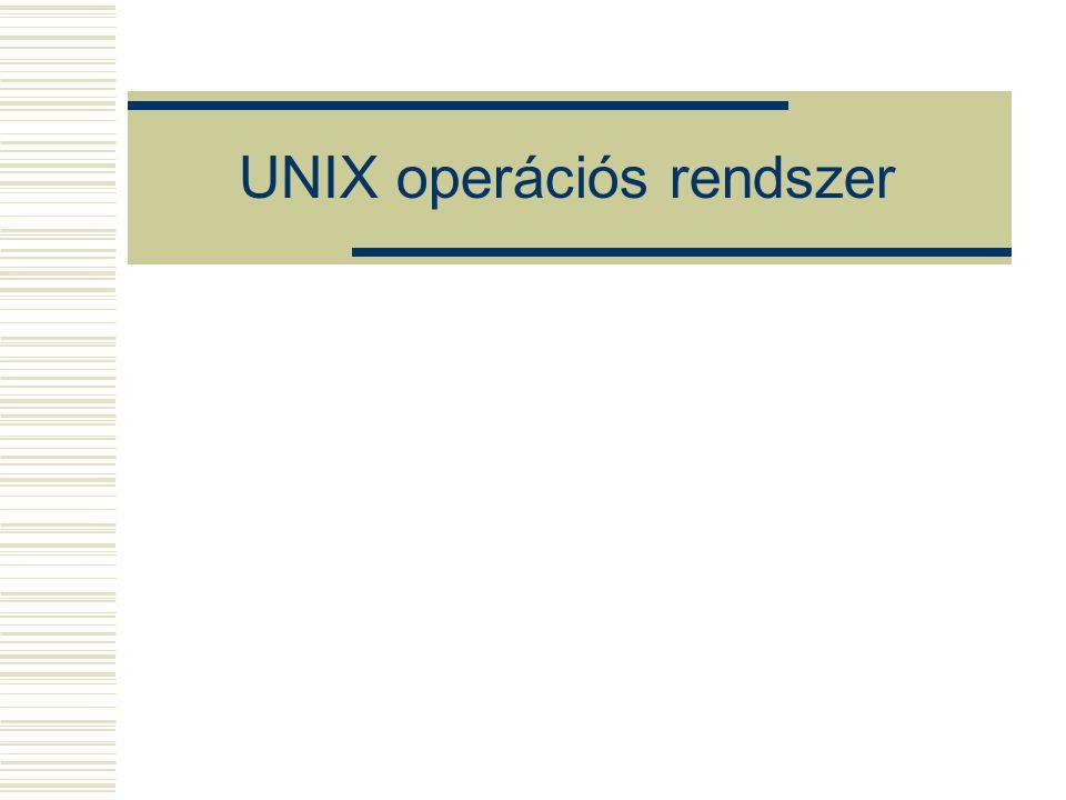 UNIX operációs rendszer