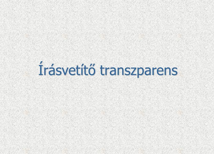 Írásvetítő transzparens
